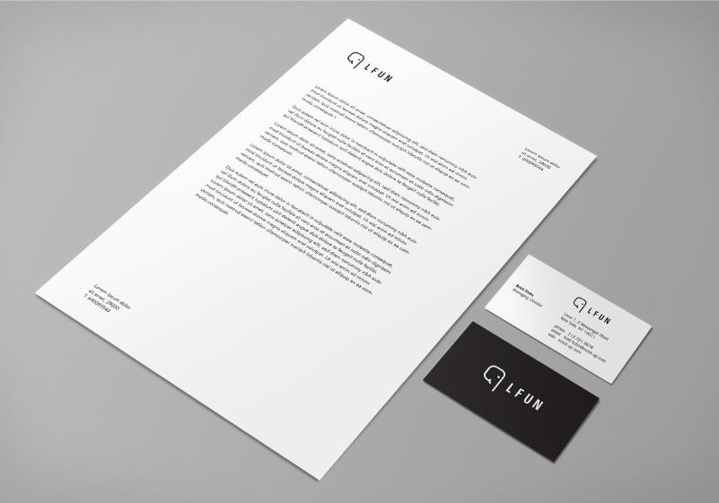 LFUN-papelería-logotipo-marca-tarjetas