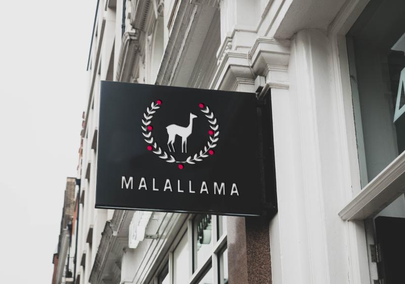 Malallama-logo-rotulo-marca-restaurante-tienda